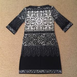 Chicos Black and White Boatneck Dress 1